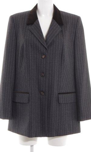 Elégance Wollen blazer zwart gestreept patroon zakelijke stijl