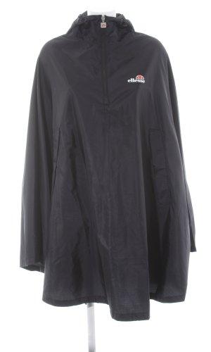 Ellesse Poncho para lluvia negro-blanco letras impresas look casual
