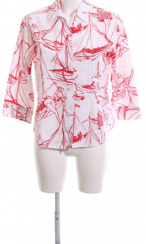 Escada Sport Long Sleeve Shirt red-natural white allover print casual look