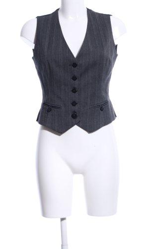 Esprit Herenvest zwart-lichtgrijs gestreept patroon zakelijke stijl