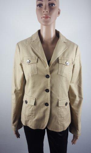 Esprit Collection Damen  Jersey Blazer Jacket Anzugjacke beige Größe 38