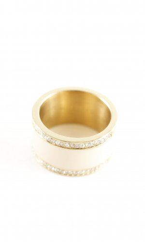 Esprit Gold Ring gold-colored-natural white elegant