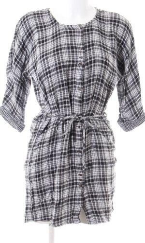 Esprit Robe chemise noir-blanc imprimé allover style décontracté