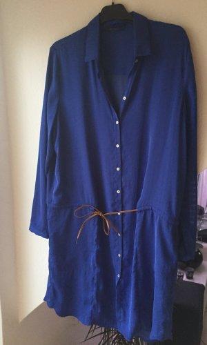 Esprit Lange blouse blauw Polyester