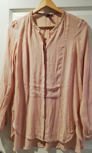 Esprit Lange blouse stoffig roze