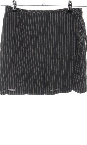 Esprit Wikkelrok zwart-lichtgrijs gestreept patroon casual uitstraling