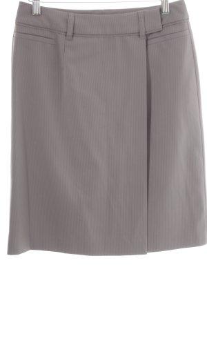 Esprit Wikkelrok grijs krijtstreep zakelijke stijl