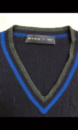 ETRO Kaschmir Plunder V Ausschnitt Pullover