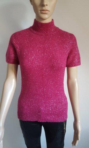 Excellent Italy Damen Angora Mix Pullunder Strickpullover lila pink Größe L