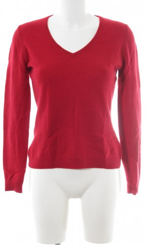 F&F Cashmerepullover dunkelrot Casual-Look