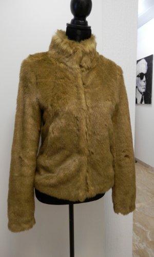 Fake Fur Felljacke Plüschjacke Blogger Fashion Pelzjacke Jacke Fell Winterjacke