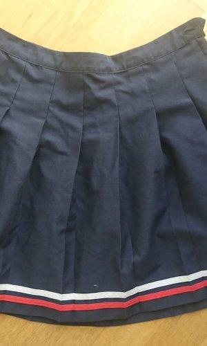 Amisu Jupe à plis rouge-bleu foncé