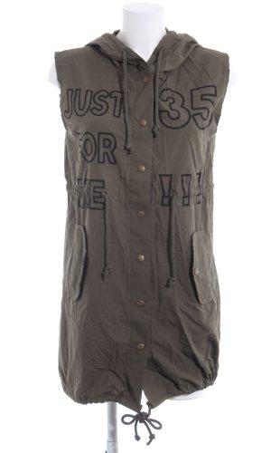 Robe chemise brun lettrage imprimé style décontracté