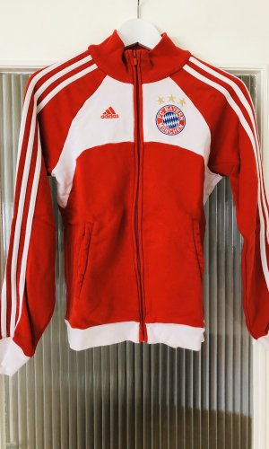 Adidas Veste sweat rouge-blanc