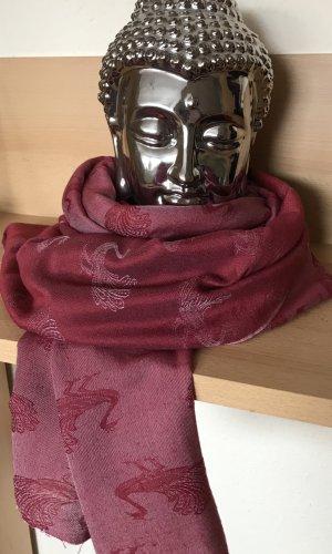 Stola karmijn-stoffig roze Wol