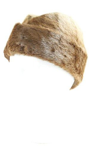 Chapeau en fourrure multicolore molletonné