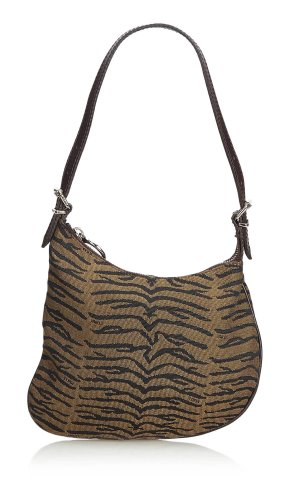 Fendi Animal Printed Canvas Oyster Shoulder Bag