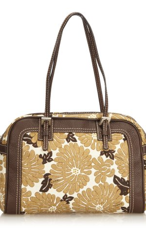 Fendi Floral Printed Canvas Shoulder Bag