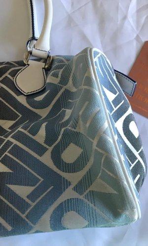 Fendi Handtasche Boston Speedy Bowler blau weiß gold Canvas und Lederbesatz