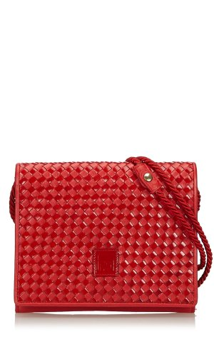 Fendi Woven Leather Crossbody Bag