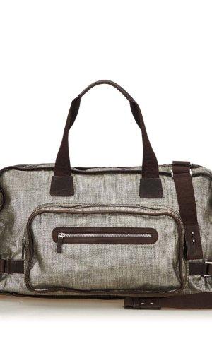 Ferragamo Weekender Bag silver-colored