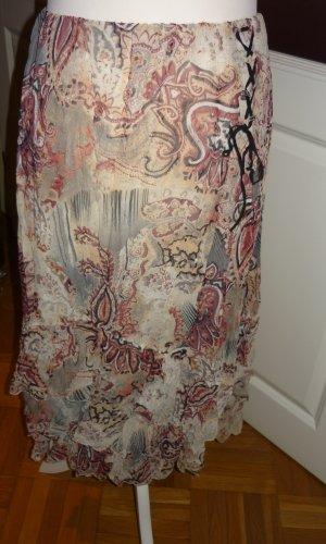 Volanten rok beige-bruin Polyester