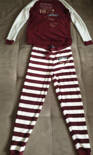 Primark Pijama blanco-burdeos