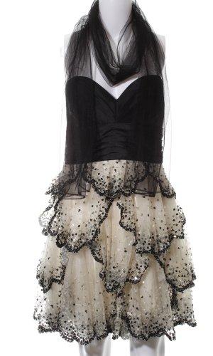 Forever Unique Cocktailkleid schwarz-wollweiß Elegant
