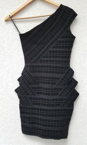 Forever Unique Kleid schwarz one shoulder