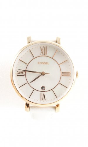 Fossil Analog Watch natural white-gold-colored business style