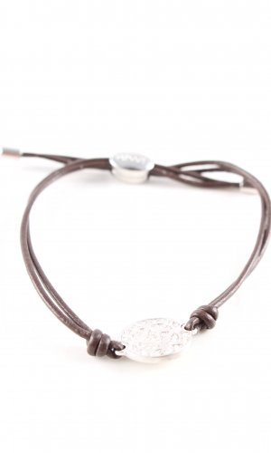 Fossil Bracelet brown-silver-colored casual look