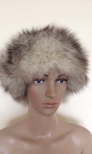 Chapeau en fourrure gris foncé-argenté fourrure