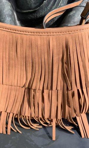 Atmosphere Fringed Bag brown