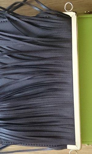 Zara Woman Fringed Bag multicolored imitation leather