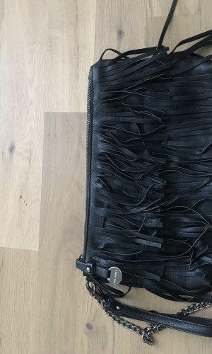 Hallhuber Fringed Bag black