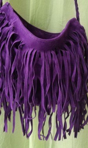 Fringed Bag lilac mixture fibre
