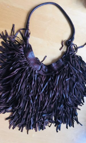 Fringed Bag multicolored leather