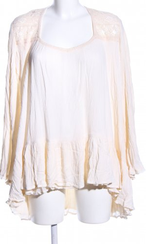 Free People Oversized Bluse creme Casual-Look