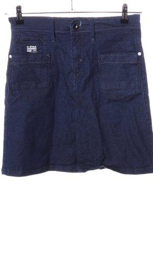 G-Star Raw Spijkerrok blauw casual uitstraling