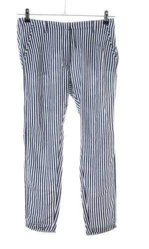 Gaastra Stoffhose weiß-blau Streifenmuster Business-Look