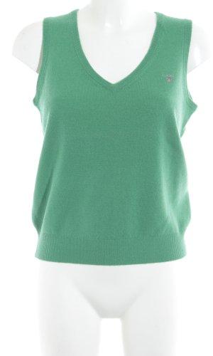 Gant Feinstrickpullunder grün schlichter Stil