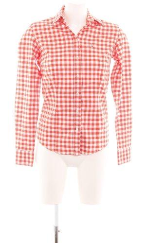 Gant Langarmhemd hellorange-weiß Allover-Druck Casual-Look