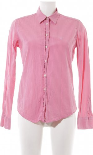 Gant Langarmhemd rosa Streifenmuster Casual-Look