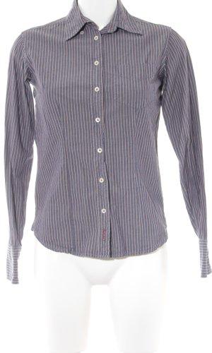Gant Langarmhemd stahlblau-rot Streifenmuster Casual-Look