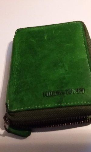 Geldbörse grün Leder