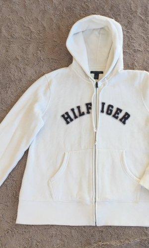 Tommy Hilfiger Veste sweat blanc-bleu foncé coton