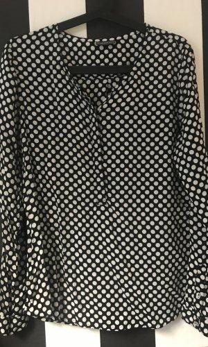 Street One Lange blouse zwart-wit Gemengd weefsel