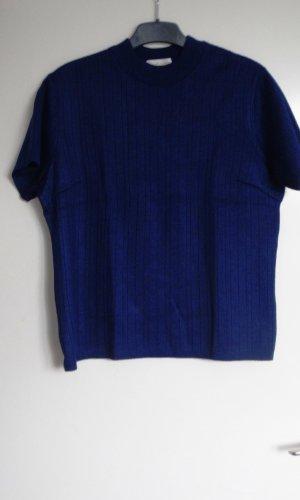 Sweater met korte mouwen blauw-donkerblauw Acryl