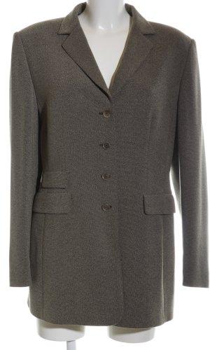 Gerry Weber Lange blazer khaki gestippeld zakelijke stijl