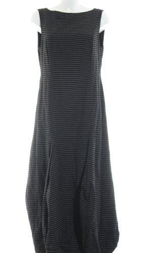 Gesine Moritz Robe ballon noir-blanc motif rayé style décontracté